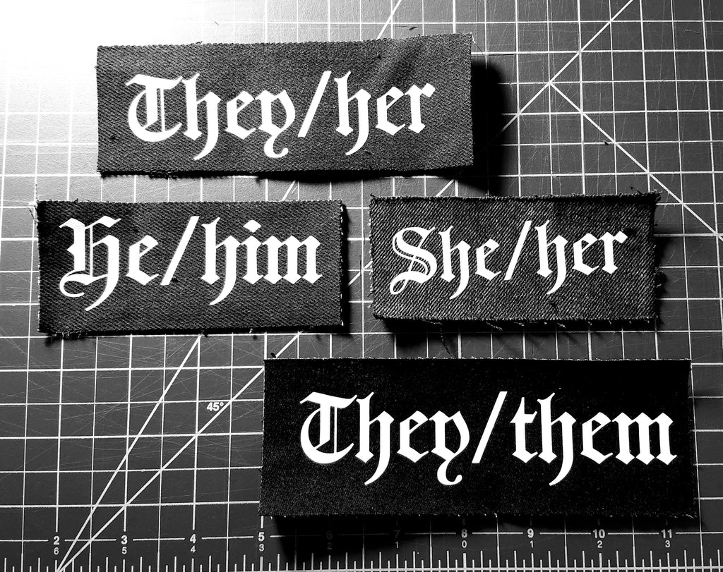 Sew-on Pronoun Patches - Customizable!