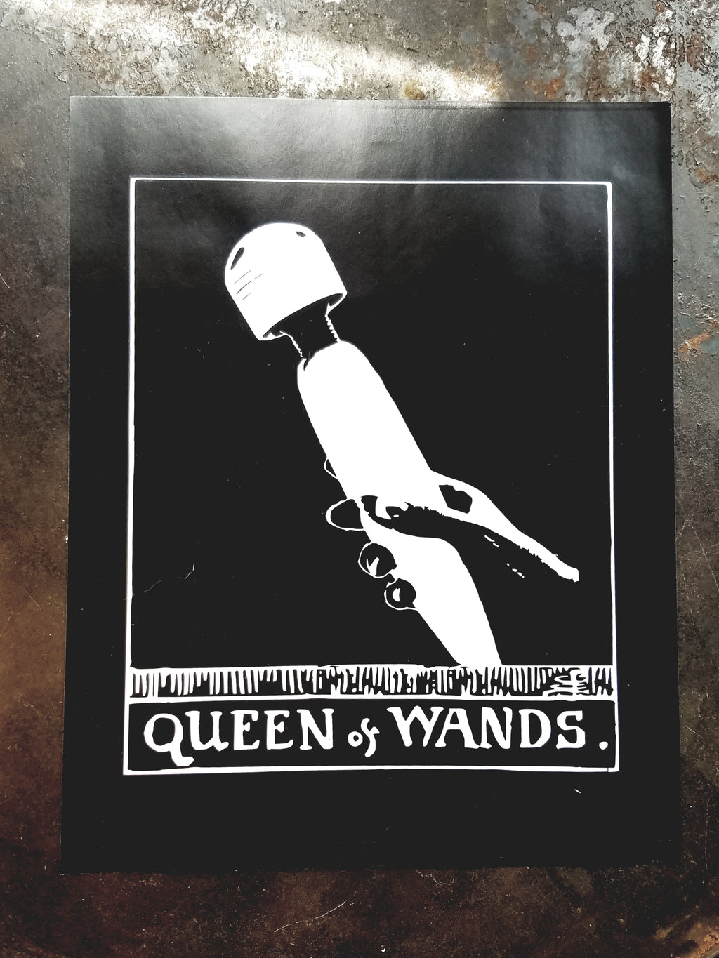 Queen of Wands tarot art print