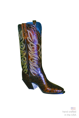 The White River - Alligator Cowboy Boots: 34A