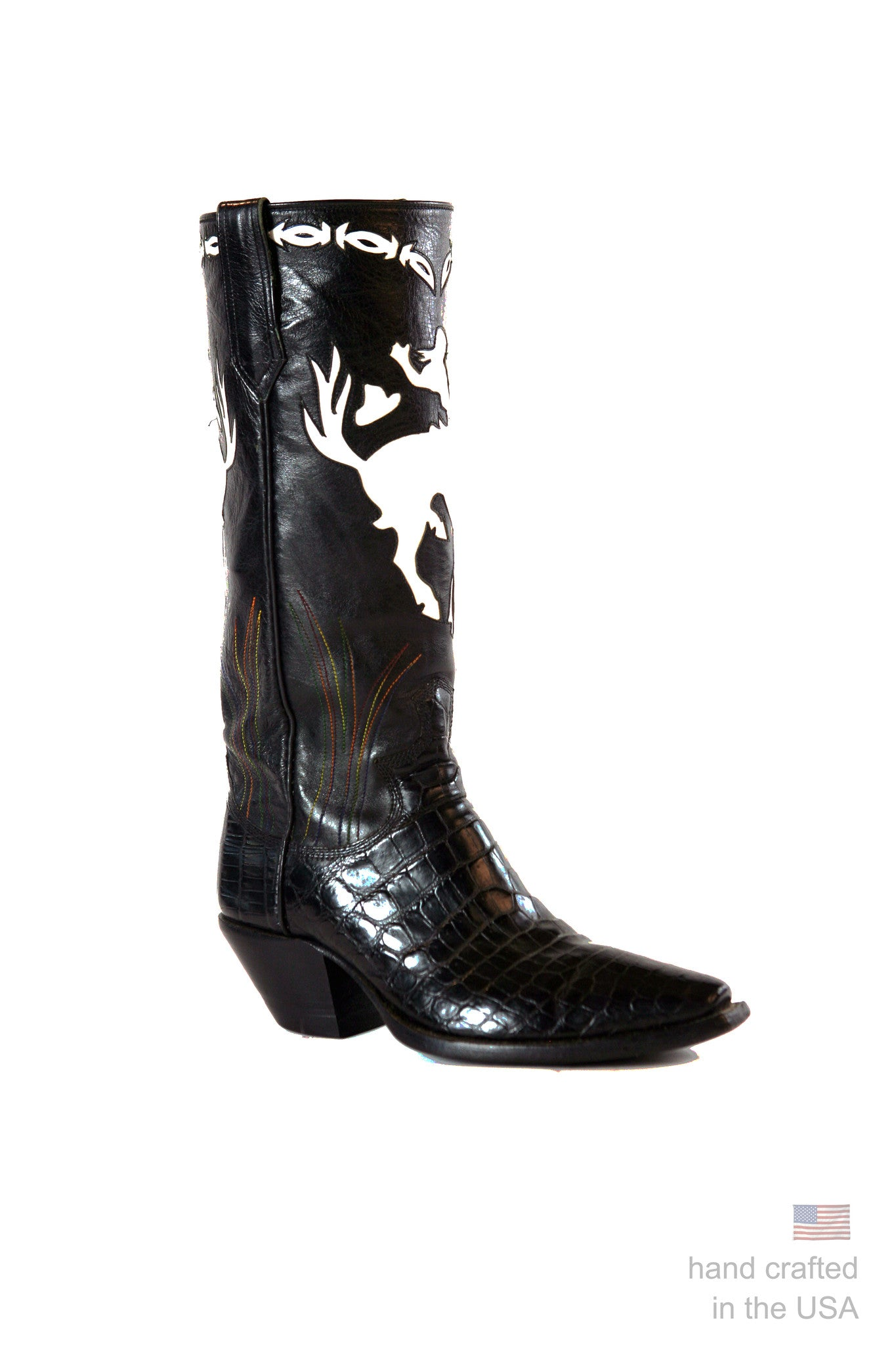 The Bronco - Custom Designed Alligator Boots: 46A