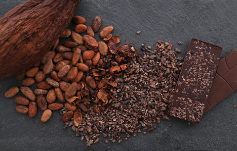 Maca Chocolate with Fair Trade Cacao Nibs for Our Vegan Monthly Chocolate Subscription