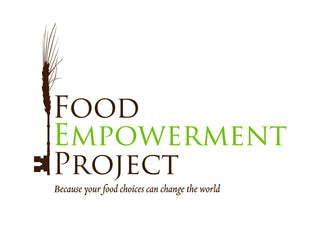 food empowerment project logo - vegan chocolate fair trade dark and coconut milk chocolate and ceremonial cacao - check the list available as an app