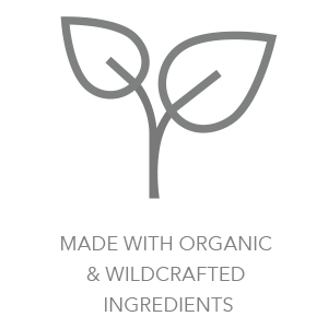 Made with organic and wildcrafted ingredients