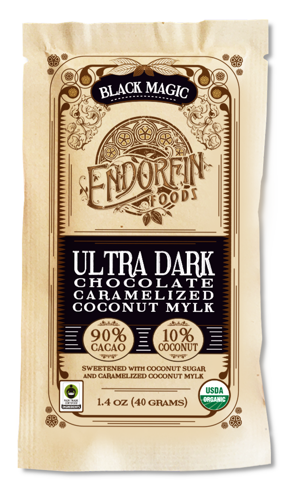 Black Magic • Ultra Dark Chocolate Bar • 90% Cacao