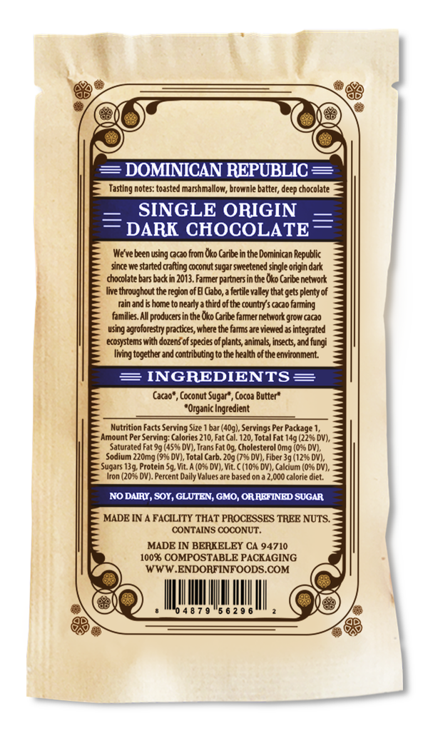 Single Origin Dark Chocolate Bar Dominican Republic • 75%