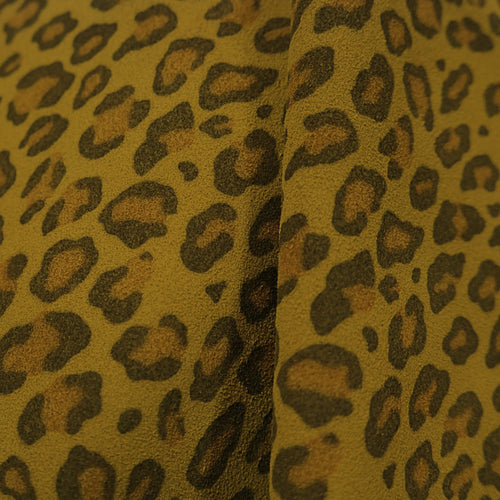 Leopard printed Calf splits Cow Walter Reginald Group NATURAL Sample Cutting