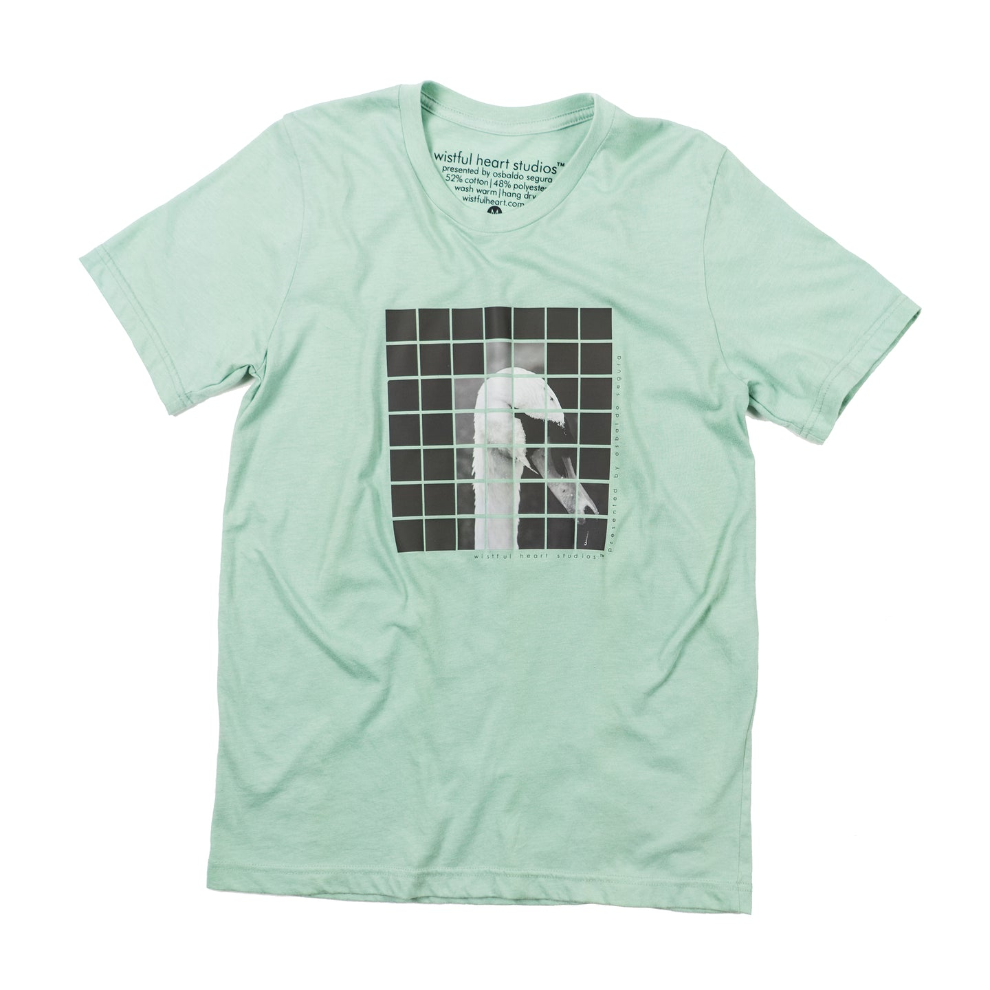 WHS™ FRAGMENTED SWAN T-SHIRT - STONEWASH GREEN