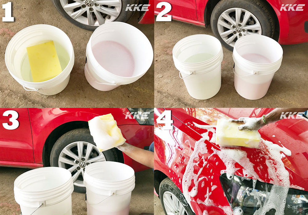 2 Bucket Method for Hand Car Wash