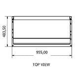 Shelving Systems-1400 Gondola -Single Sided with 5 shelves