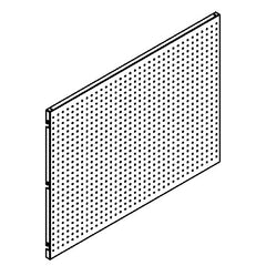 Shelving Systems- Perforated Panels for a 1400 Gondola Single Sided