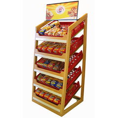 Bread Display Systems-Wooden 5 Tier