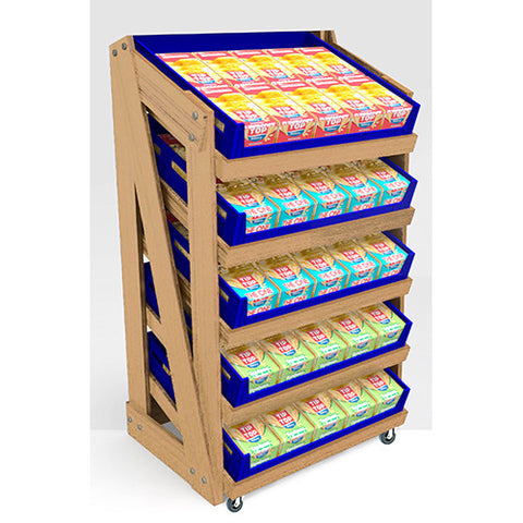 Bread Display Systems-Oak 5 Tier