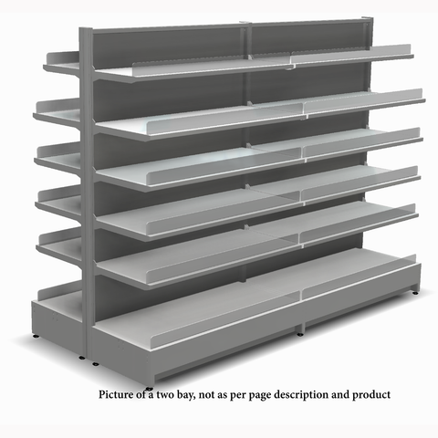 Shelving Systems- LED lit 1800 double sided 1 bay gondola