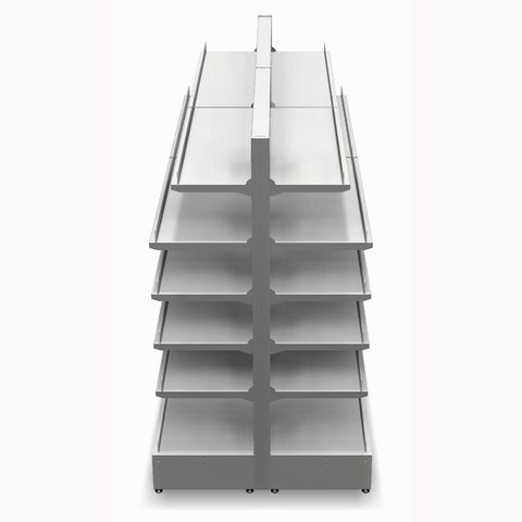 Shelving Systems- Extension bay for a LED lit 1400 double sided gondola