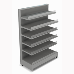 Shelving Systems- LED lit 1400 single sided 1 bay gondola