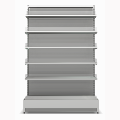 Shelving Systems- LED lit 1800 double sided gondola