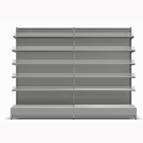 Shelving Systems- Extension bay for a LED lit 1400 single sided gondola