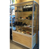 Shelving Systems-Glass Display Cabinet