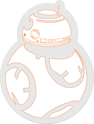 Bb8 sticker decal 2