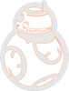 bb8 sticker decal 2""