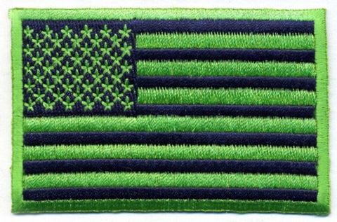 Blue & Green US Flag Patch for fans of Seattle Seahawks