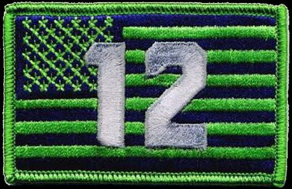 12th Flag Patch for fans of Seattle Seahawks