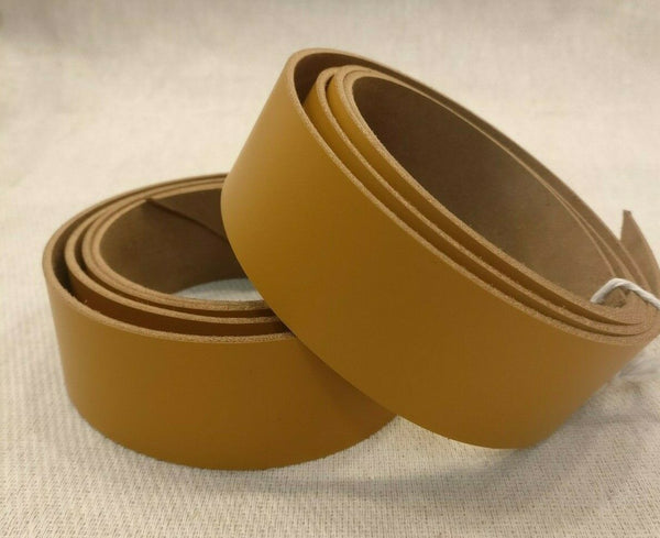 "Tan Leather Strap - 127cm (50"") Long 2.5mm Cowhide Leather Strip"