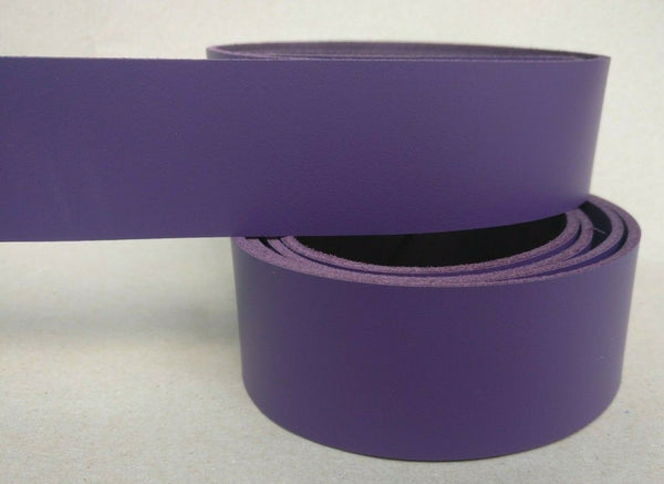 "Purple Leather Strap - 127cm (50"") Long 2.5mm Cowhide Leather Strip"
