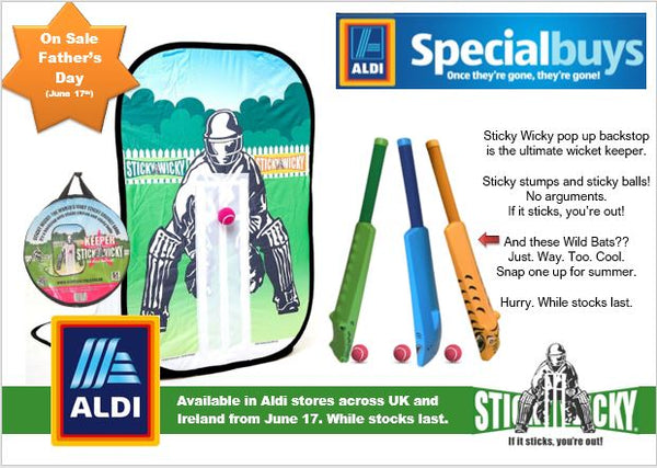 Aldi UK and Ireland Sticky Wicky Promotion