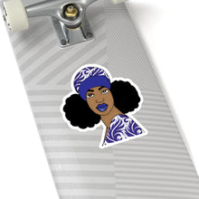 Load image into Gallery viewer, Afro Puff Turban Girl Kiss-Cut Stickers
