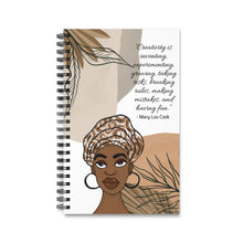 Load image into Gallery viewer, Creativity Quote Spiral Journal