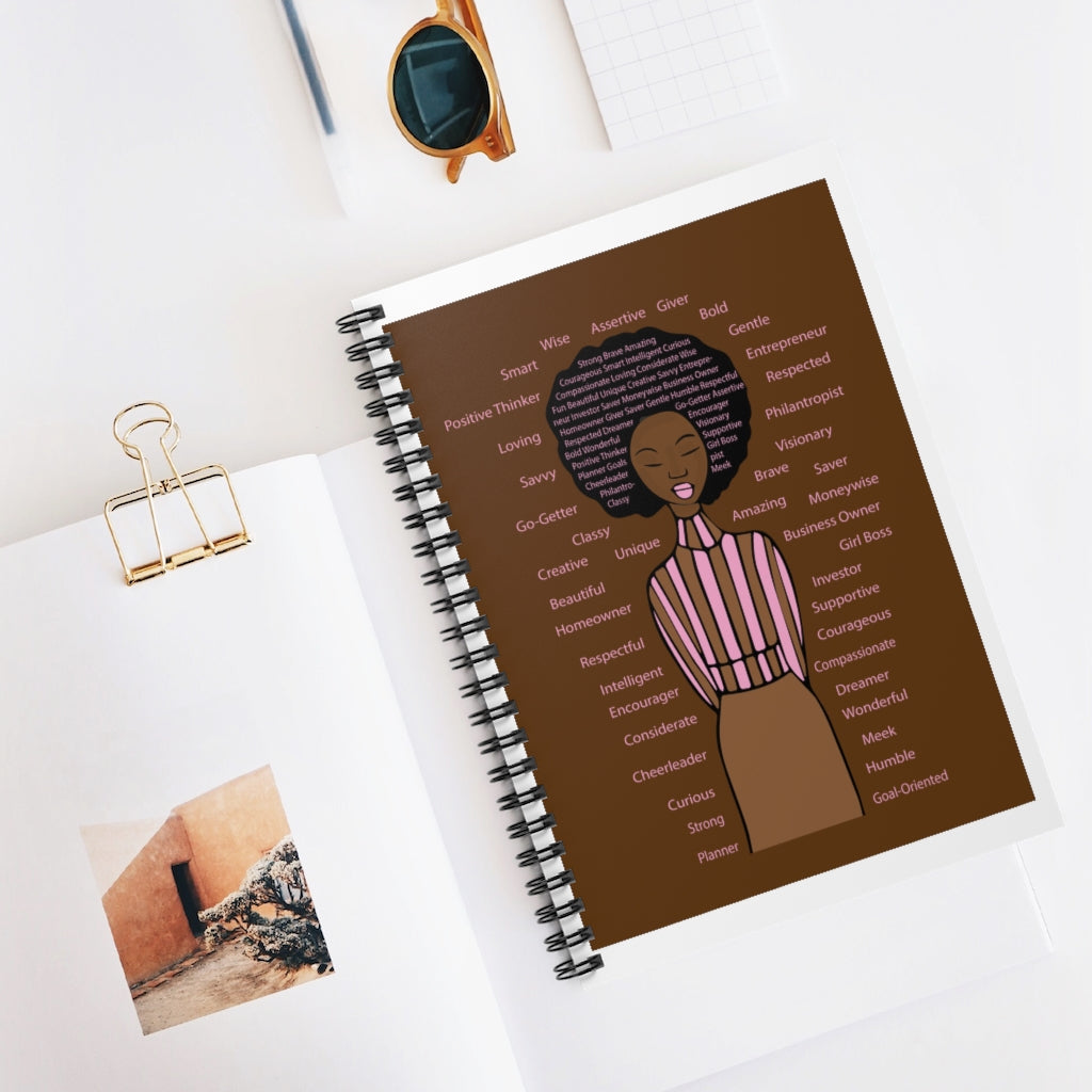 Positive Vibes Spiral Notebook - Ruled Line