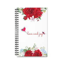 Load image into Gallery viewer, Love and Joy Spiral Journal