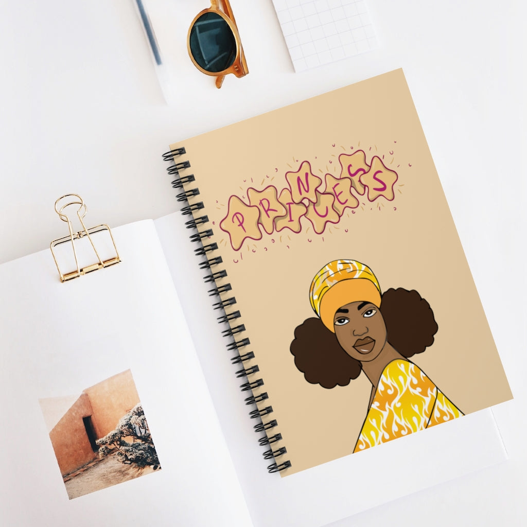 Princess Spiral Notebook - Ruled Line