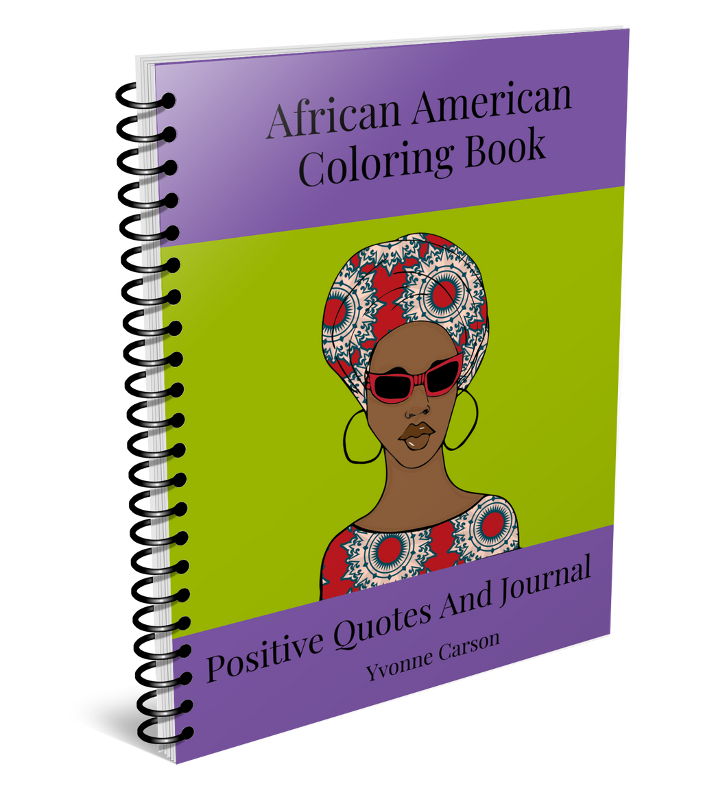 African American Coloring Book Positive Quotes And Journal*