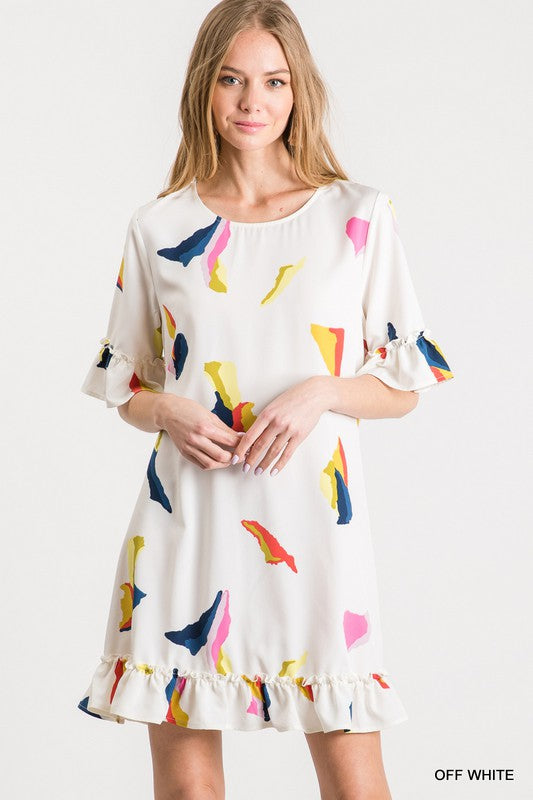 Abstract Splotch Dress