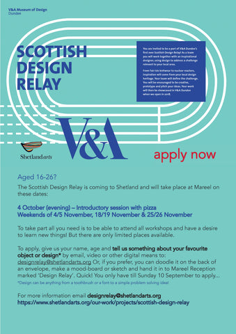 Scottish Design Relay from V&A Dundee - poster for participants
