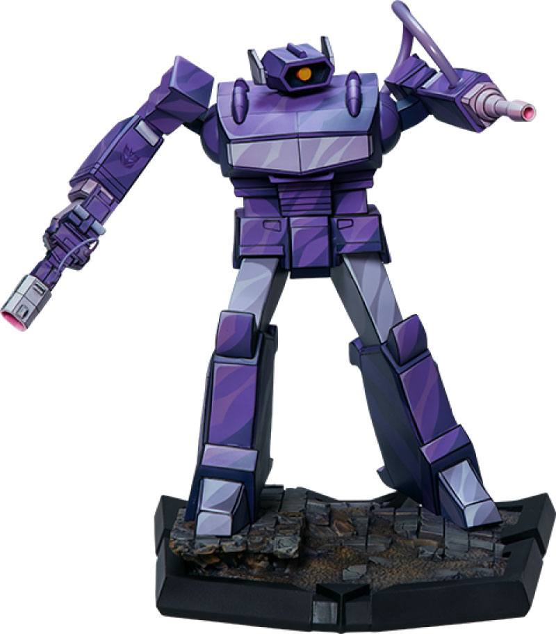 2021-05-Transformers Classic Scale Statue Shockwave 23 cm