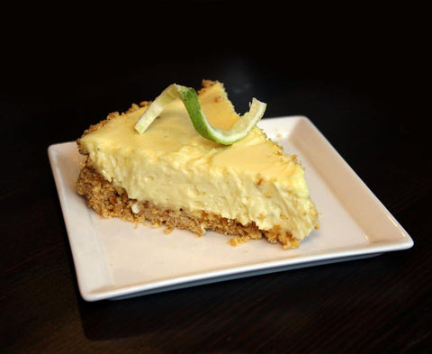 Photo of a slice of Key Lime Pie