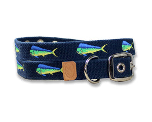 Embroidered Mahi-Mahi Dog Collar