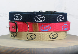 Sleepy Pup Trier Embroidered Dog Collar