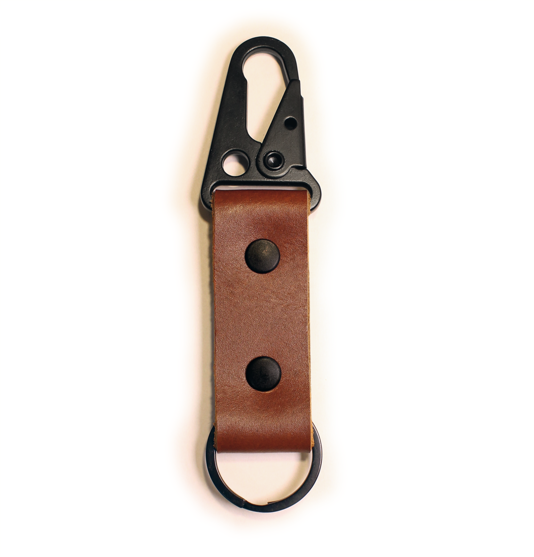 Leather HK Clip Keychain Fob