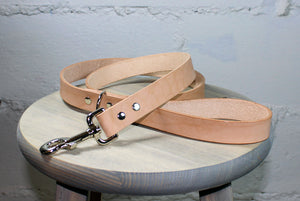 Natural Thick Leather Dog Leash