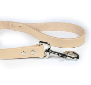 2' Thick Leather Traffic & Control Dog Leash-Natural