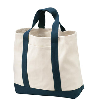 Navy Two-Tone Boat Tote by sleepy pup