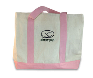 Pink Two-Tone Boat Tote by sleepy pup