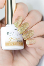 Light Gold Glitter Gel Polish 7ml