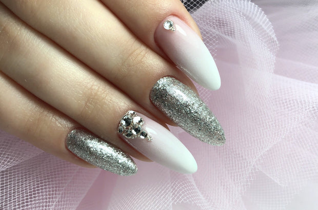 Silver Cha Cha Glitter Gel Polish 7 ml