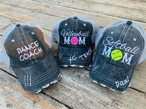 dance hat, dance coach hat, customized mom hat, customized mom hats, softball mom, softball mom hat, softball mom hats, volleyball mom, volleyball mom hat, volleyball mom hats, customized sports mom hat, customized sports mom hats, embroidered mom hats.