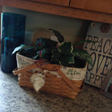 Longaberger Basket {Medium market basket with botanical fields liner and protector} - Stacy's Pink Martini Boutique
